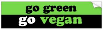 Go Green Go Vegan Bumpersticker